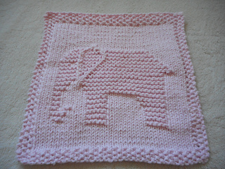 Pink Elephant Dishcloth pattern by Louise Sarrazin