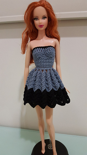 Ravelry Barbie Strapless Chevron Dress Pattern By Dez