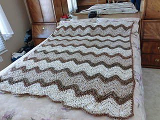 Ravelry Striped Zig Zag Blanket Pattern By Loops Threads Design Team