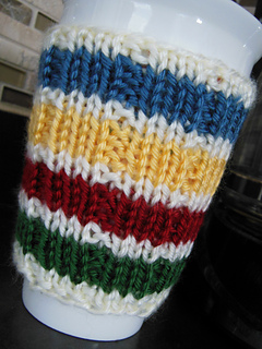 4e8be107658 Ravelry  Hudson Bay Inspired Cup Cozy pattern by Diana Poirier