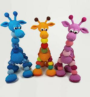 Ravelry Amalka Giraffe Pattern By Hippe Haaksels And Hana Prokopy