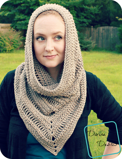 Ravelry Ariel Hooded Cowl Pattern By Divine Debris