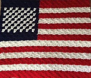 Small American Flag Crochet Pattern : Ravelry: 4th of July C2C US Flag pattern by Deannes Designs