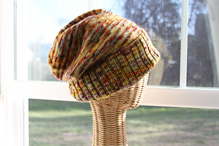 Knitting Patterns For Hats Using Sock Yarn : Ravelry: Sockhead Slouch Hat pattern by Kelly McClure