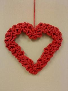 Ravelry Ruffle Valentine Wreath Pattern By Grace Ann