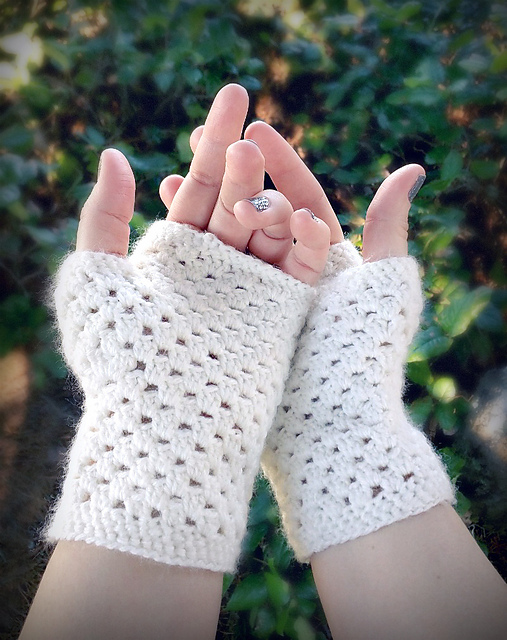 Ravelry: delicate fingerless gloves pattern by domestic bliss squared