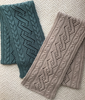 Ravelry Coventry Cables Lace Scarf Pattern By Donna Brooks