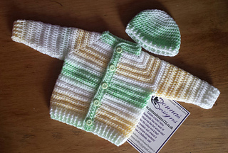 Ravelry Top Down Baby Jacket Pattern By Donna Wilby