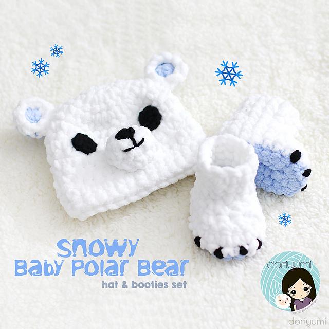 Ravelry  Snowy Baby Polar Bear Set pattern by Doris Yu 948e056d5c7