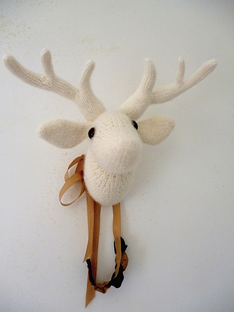 Ravelry: my dear - a deer trophy pattern by Claire Garland