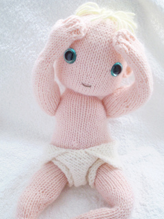 Ravelry Knitted Baby Doll And Nappy Pattern By Claire Garland