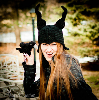 e2a9825186b Ravelry  Raven and Evil Lady Horn Hat pattern by Shawn Torres