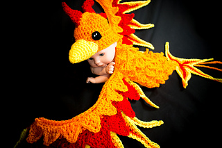 298c548d1b6 Ravelry  Phoenix Baby Photo Prop  The Ultimate Dragon Bird pattern ...