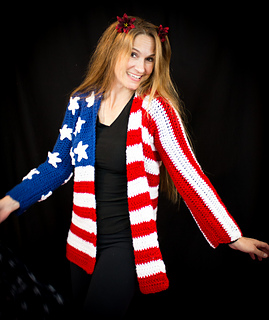 32d6b4fad95 Ravelry  Proud American Cardigan pattern by Shawn Torres