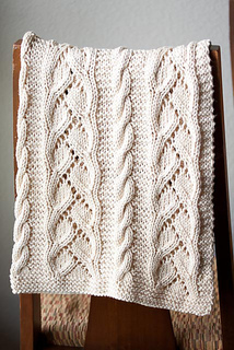 Fancy Cable Knitting Stitches : Ravelry: #96 Fancy Cables and Lace Baby Blanket pattern by SweaterBabe