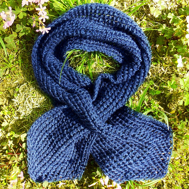 Ravelry Tunisian Bump Stitch Keyhole Scarf Pattern By Joyce D Lewis Interesting Tunisian Crochet Scarf Pattern