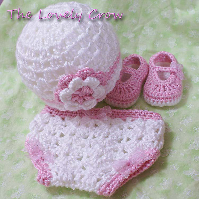 Ravelry Thelovelycrows Crochet Beanie Hat And Baby Booties Set