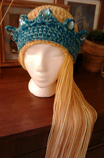 d11e068ff Ravelry: Princess Hat With Crown and Braids pattern by Stitch11