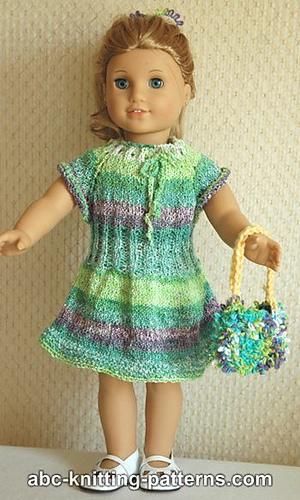 Ravelry American Girl Doll Drawstring Raglan Summer Dress
