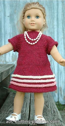 c921382a7f50 American Girl Doll Raglan Banded Dress ...