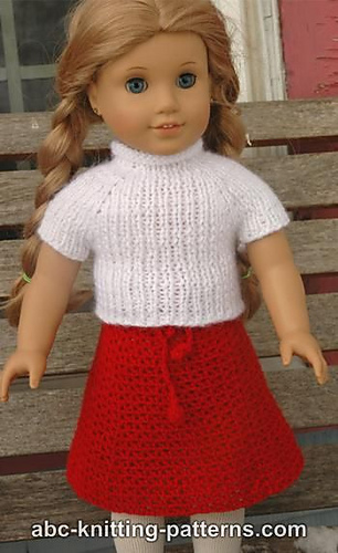 Ravelry American Girl Doll Real Easy V Stitch Skirt Pattern By