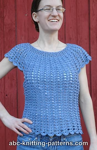 Ravelry: Scalloped Summer Top pattern by Elaine Phillips