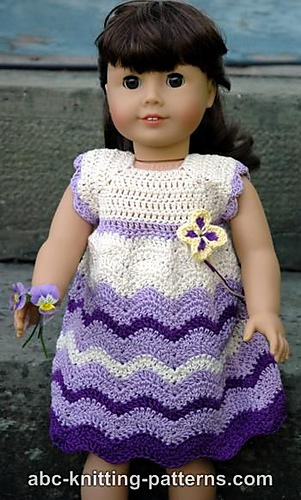 Ravelry American Girl Doll Wisteria Chevron Dress Pattern By Elaine