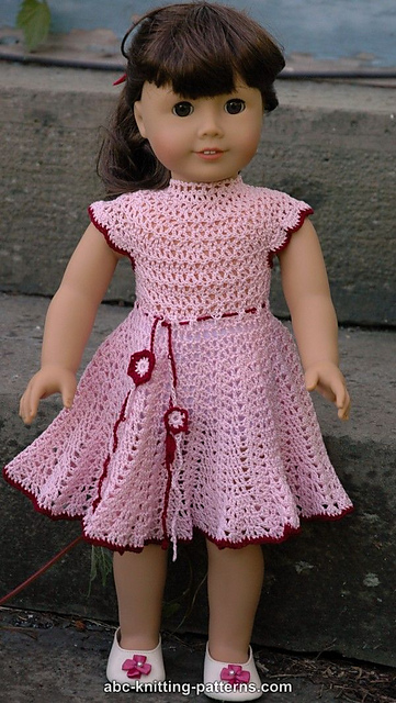 Ravelry: American Girl Doll Apple Blossom Dress pattern by Elaine ...
