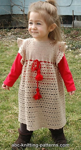 Ravelry Flower Girl Lace Dress Pattern By Elaine Phillips