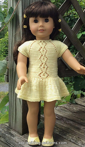 Ravelry American Girl Doll Lace Cable Summer Dress Pattern By