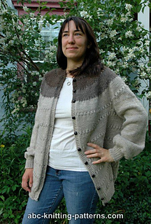 ac1a7369df40 Ravelry  Seamless Round Yoke Fisherman s Cardigan pattern by Elaine ...
