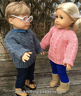 7803c9aba84ea Ravelry  American Girl Doll Aran Sweater pattern by Elaine Phillips