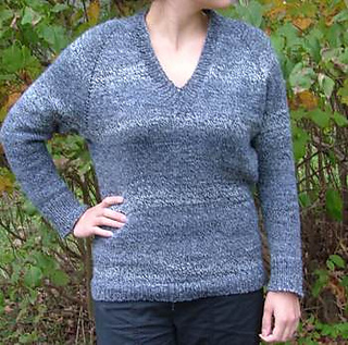 d8e59dfdd0a8 Ravelry  Top Down V-Neck Raglan Sweater pattern by Elaine Phillips
