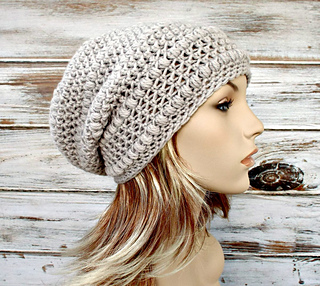 c1a695ab0b6 Ravelry  Penelope Puff Stitch Beret and Slouch pattern by Diane Serviss