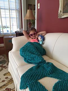 Ravelry Mermaid Tail Lap Blanket For Children And Teens