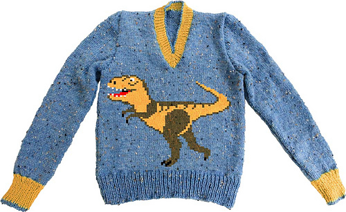 Ravelry: Dinosaur T-Rex child's sweater pattern by Linda ...