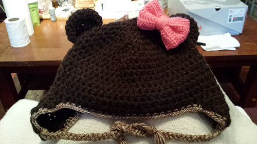 Ravelry  Adult Laplander Hat with Teddy Bear Ears pattern by Nichole ... 3ee00f7c7456