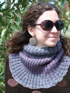 Ravelry  3 Colour Stripe Wool and Mohair Rib Cowl pattern by Emily Bieman 6cbf2ab2e8c2