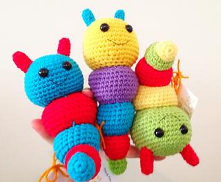 Amigurumi Rattle Free Pattern : Ravelry bug rattles pattern by mari liis lille