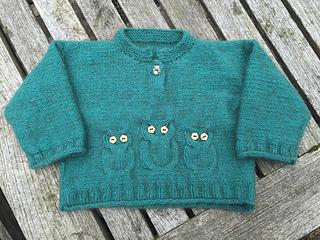Ravelry K711 Owl Sweater And Hat Pattern By Gitta Schrade