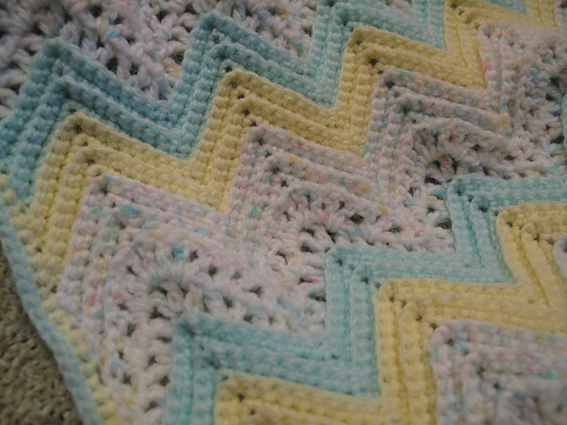 Ravelry Lacy Ripple Baby Afghan Kit Pattern By Herrschners