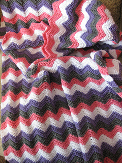Ripple Baby Blanket Crochet Pattern By Marilyn Losee Ravelry
