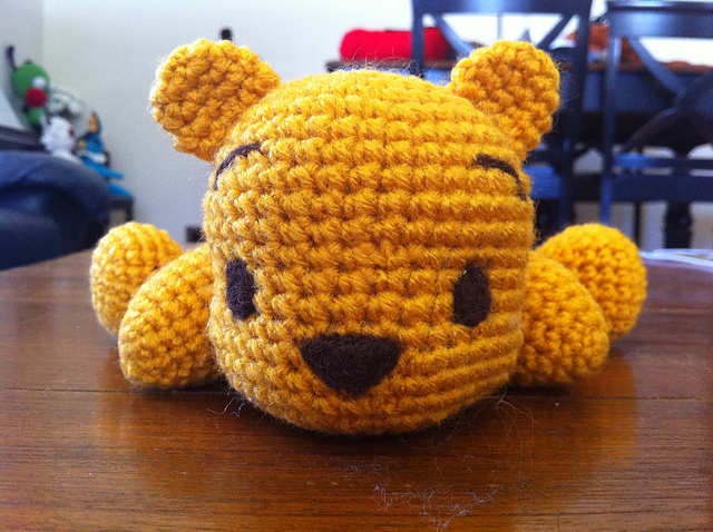 Amigurumi Panda Bear Crochet Pattern : Ravelry derpy pooh bear pattern by evelyn pham