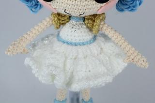 Amigurumi Doll Lalaloopsy Pattern : Ravelry lalaloopsy ivory ice crystals crochet amigurumi doll