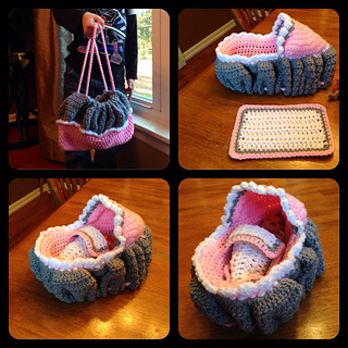 Ravelry Crochet Doll Cradle Purse Pattern By Bobwilson123