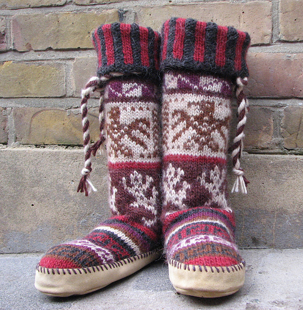 Ravelry Chukchi Kamchatka Knitted Crocheted Mukluks Patterns