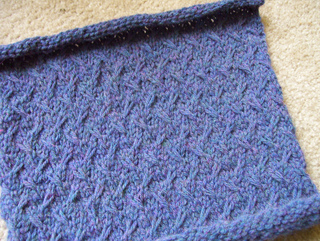 Ravelry: Diagonal Slip Stitch pattern by Vogue Knitting