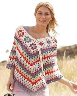 Knit poncho strip 4