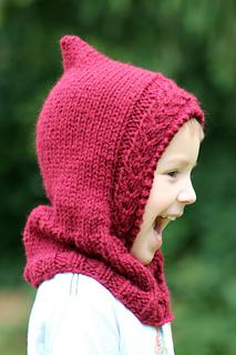Free Crochet Pattern Hooded Neck Warmer : Ravelry: Little Red Hooded Cowl pattern by Gretchen Tracy