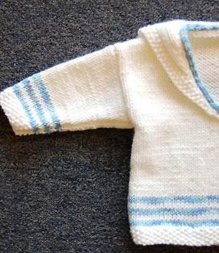 Ravelry Baby Boy Knit Middy Shirt Top Pattern By Dawn Leeseman